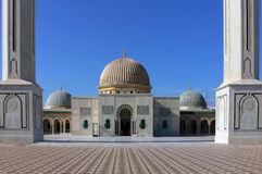 Mausoleum of Habib Bourgiba. Monastir was the birthplace of Habib Bourguiba, the first president of independent Tunisia. The Mausoleum of Habib Bourtguiba was Royalty Free Stock Images