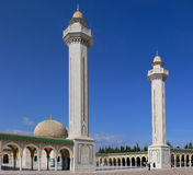 Mausoleum. Of Habib Bourguiba in Monastir with highly elevated minarets on entrance Royalty Free Stock Images