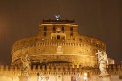 The Mausoleum of Hadrian. At Night Stock Photo