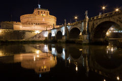 Mausoleum of Hadrian (Castel Sant\'Angelo) Stock Photography
