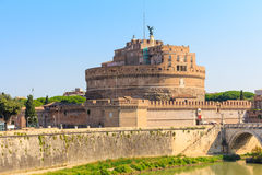 The Mausoleum of Hadrian, Castel Sant Angelo, Rome Stock Image