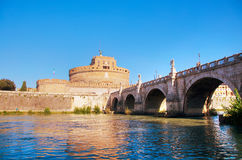 The Mausoleum of Hadrian Castel Sant`Angelo in Rome Stock Images