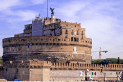 The Mausoleum of Hadrian - Castel Sant'Angelo. The Mausoleum of Hadrian usually Known as  Castle of the Holy Angel Royalty Free Stock Photos
