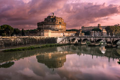 The Mausoleum of Hadrian, known as Castel Sant Angelo Stock Photo