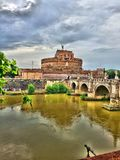 Mausoleum of Hadrian or Castel S. Angelo stock photo