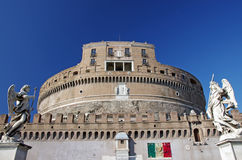The Mausoleum of Hadrian in Rome Stock Photos