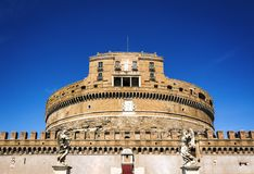 Mausoleum of Hadrian in Rome stock photography