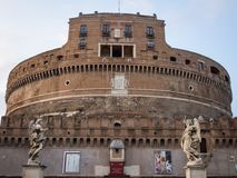 The Mausoleum of Hadrian. Usually known as Castel Sant`Angelo Stock Photography