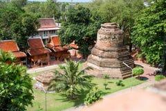 Mausoleum Historical remain in Phra Nakhon Si Ayutthaya, at yai chaimongkol   Thailand, one of the famous historical landmark in t. Mausoleum Historical remain Stock Photo