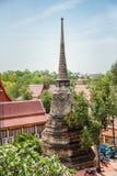 Mausoleum Historical remain in Phra Nakhon Si Ayutthaya, at yai chaimongkol   Thailand, one of the famous historical landmark in t. Mausoleum Historical remain Stock Images