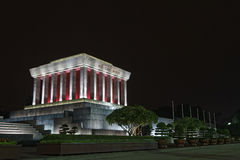 Mausoleum of Ho-Chi-Minh in Hanoi at night Royalty Free Stock Images