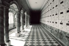Mausoleum-Hof Stockbild