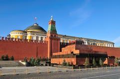 Mausoleum i röd fyrkant i Moskva fotografering för bildbyråer