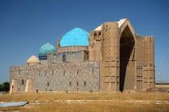 Mausoleum i Turkestan kazakhstan Royaltyfria Bilder