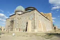 Mausoleum of Khoja Ahmed Yasavi in Turkistan, Kazakhstan. Royalty Free Stock Photos