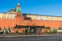 The Mausoleum of Lenin and Kremlin wall on Red Square in Moscow Royalty Free Stock Images