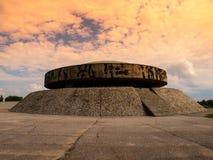 Mausoleum in Majdanek concentration camp Stock Images