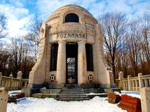 Mausoleum manufacturer. Mausoleum of Isaac Poznanskis largest manufacturer IX century Jewish Lodz. The tomb is located on Europes largest Jewish cemetery in Royalty Free Stock Photos