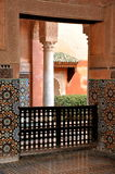Mausoleum in Marrakesh. Interior of Mausoleum in Marrakesh Royalty Free Stock Photo
