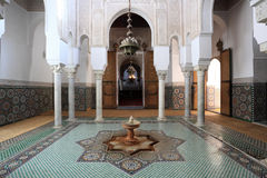 Mausoleum in Meknes, Morocco. Mausoleum of Moulay Ismail in Meknes, Morocco Royalty Free Stock Photography