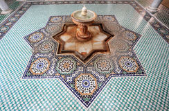 Mausoleum in Meknes, Morocco. Spring in the mausoleum of Moulay Ismail in Meknes, Morocco Stock Photos