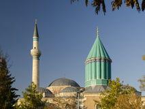 Mausoleum of Mevlana. Celaleddin (Jalal Al Din) Rumi in Konya, Turkey Stock Image
