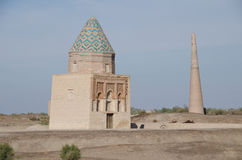 Mausoleum and Minaret in Konye Urgency, Turkmenistan Stock Photo