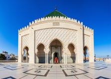 Mausoleum Mohammed V Arkivfoton
