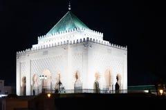 Mausoleum Mohammed V Arkivfoto