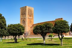 The Mausoleum of Mohammed V in Rabat, Morocco stock images