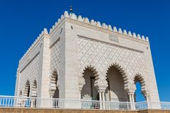 Mausoleum of Mohammed V in Rabat. Entire view of Mausoleum of Mohammed V in Rabat, Morocco Stock Photography
