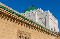 Mausoleum of Mohammed V in Rabat. Close view of Mausoleum of Mohammed V in Rabat, Morocco Royalty Free Stock Photo