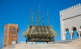 Mausoleum of Mohammed V in Rabat Stock Photos
