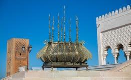 Mausoleum of Mohammed V in Rabat stock photos