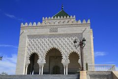 Mausoleum of Mohammed V Royalty Free Stock Photo