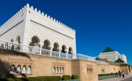 Mausoleum of Mohammed V in Rabat. Side view of Mausoleum of Mohammed V in Rabat, Morocco Stock Photo