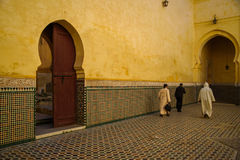Mausoleum of Moulay Idris in Meknes, Morocco. Stock Photo