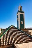 Mausoleum of Moulay Ismail interior in Meknes in Morocco. Mausoleum of Moulay Ismail is a tomb and mosque located in the Morocco city of Meknes stock photography