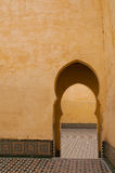 Mausoleum of Moulay Ismail. In Meknes, Morocco Stock Photos