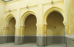 Mausoleum of Moulay Ismail in Meknes Stock Photo