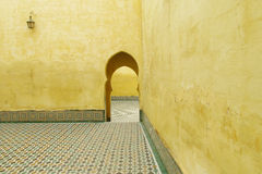 Mausoleum of Moulay Ismail in Meknes Royalty Free Stock Photo