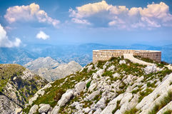 The mausoleum of Njegos located on the top of the Lovcen Mountai Stock Photography