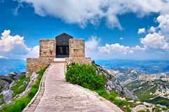 The mausoleum of Njegos located on the top of the Lovcen. Mountain, Montenegro Stock Image