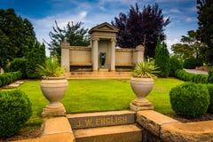 Mausoleum at Oakland Cemetary in Atlanta, Georgia. Royalty Free Stock Image