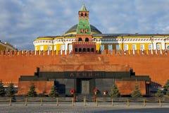 Mausoleum op Rood Vierkant, Moskou, Rusland. Stock Afbeeldingen