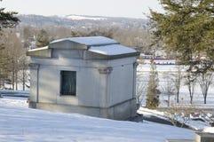 Mausoleum overlooking a city park Stock Photos