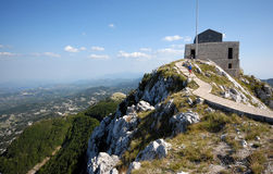Mausoleum of Petar Petrovic Njegos. Historical mausoleum building of Petar Petrovic Njegos - montenegrin poet and ruler - in mountains of National Park Lovcen Stock Photos