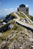 Mausoleum of Petar Petrovic Njegos. Historical mausoleum building of Petar Petrovic Njegos - montenegrin poet and ruler - in mountains of National Park Lovcen Stock Photo