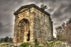 Mausoleum of Queen Aba in Turkey. Mausoleum tomb of Queen Aba in Kanytelleis ancient city in Mersin, Turkey Stock Images