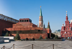 Mausoleum on the Red Square in Moscow Stock Image